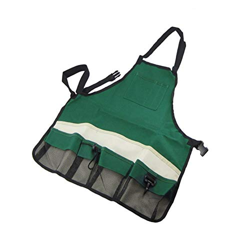 InterestPrint Adjustable Bib Apron for Women Men Girls Chef with Pockets Vintage Summer Faded Lounge Chair Palm Tree Sandy Beach Kitchen Apron for Cooking Baking Gardening Grooming Cleaning