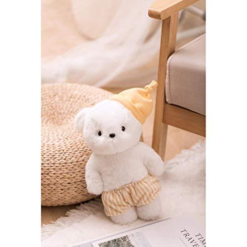 N / A Lindo Pijama de Dibujos Animados Oso Crema Animal de Peluche de Juguete de Peluche bebé acompaña Dormir muñeca niños Regalo de cumpleaños 35 cm