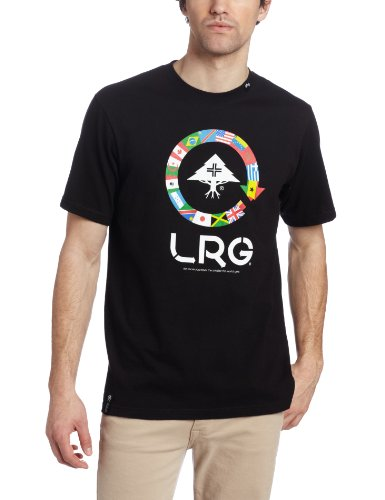 LRG Men's More You Travel T-Shirt, Black, Large