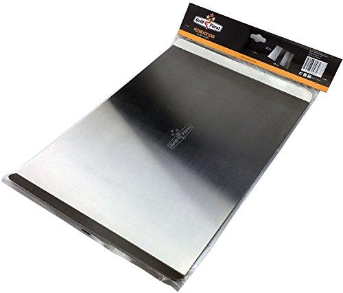 Grillfuerst Pizzablech eckig aus Edelstahl - Abmessungen 40 cm x 30 cm - zur Vorbereitung und dem Transport des Pizzateiges