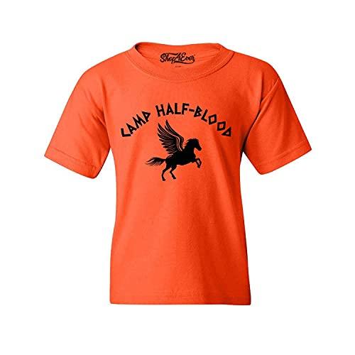 shop4ever Camp Half Blood Youth's T-Shirt Demigod Child's Tee Large Orange 0