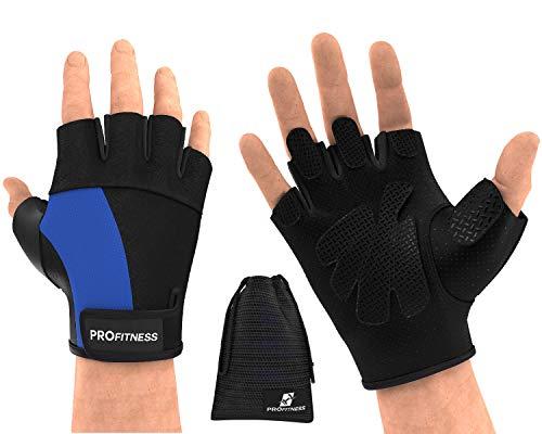 ProFitness Gloves Gloves guantes para Gym Biking Gloves Gym Gloves Women Weight Lifting Gloves for Women Hand Grip Grips Grip Gloves Weighted Gloves Grips Work Out glov (XX-Large, Black/Blue)