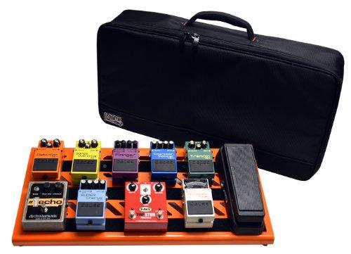 "Gator Cases Aluminum Guitar Pedal Board with Carry Bag; Large: 23.75"" x 10.66"" | Orange (GPB-BAK-OR)"