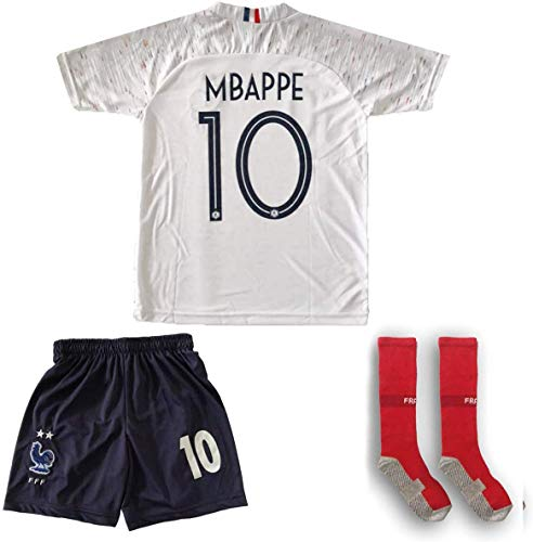 ATB Frankreich 2019/2020#10 Mbappe Auswärts Kinder Fußball Trikot und Shorts mit Socken Kinder und Jugend Größe