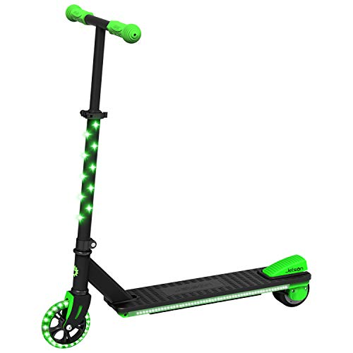 Jetson Neo Electric Scooter with LED Light-Up Deck, Stem, and Wheels, Kick to Start Electric Motor, E-Scooter for Kids 8 and Up