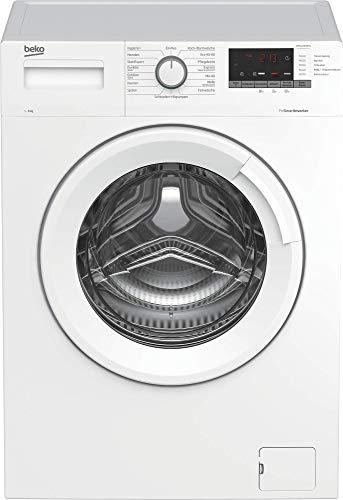 Beko WML61433NPS1 Waschmaschine/Restzeitanzeige und Schleuderwahl/ 1400 U/min/Pet Hair Removal/ 6 kg/nur 44 cm tief - platzsparend, Weiß
