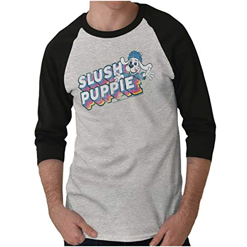 Retro Slush Puppie Vintage 80s Logo Gift 3/4 Sleeve T-Shirt