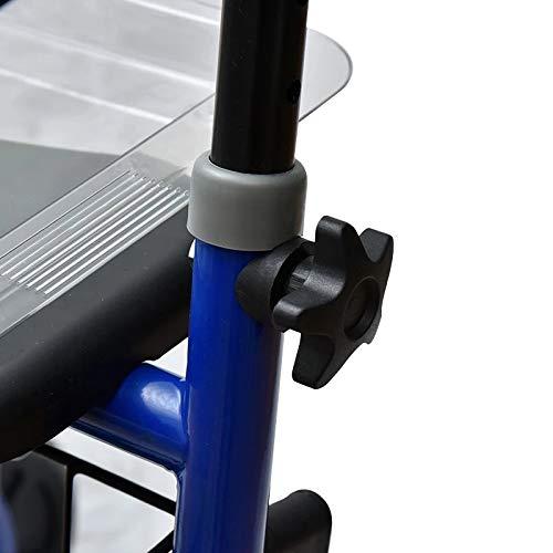 41L9fqYTwWL. SL500  - Rollator de acero plegable azul – Andador para personas mayores con 4 ruedas, asiento y frenos