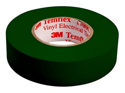 3M TGRU1510 Temflex 1500 Vinyl Elektro-Isolierband, 15 mm x 10 m, 0,15 mm, Grün
