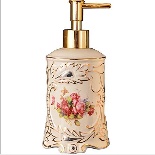 Aveo Schaumseifenspender Keramik Seifenspender Küchenspüle und Bad, Shampoo und Seifenspender Handseife, Waschmittel, einfach zu bedienen Duschlotionsspender