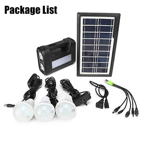 Zonnecellen voor thuis, 30 W, LED-systeemkit verlichting met LED-lampen voor binnen- en buitenverlichting energie
