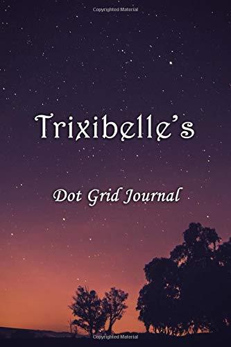 Trixibelle's Dot Grid Journal: Trixibelle Personalised Custom Name Bullet Point Dot Grid Notebook - Starry Night