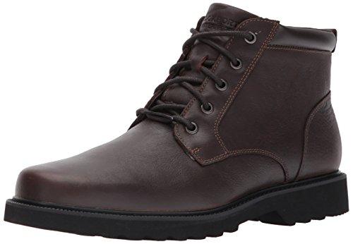 Rockport Men's Northfield WP Plain Toe Chukka Boot, Chocolate Waterproof, 8 XW US