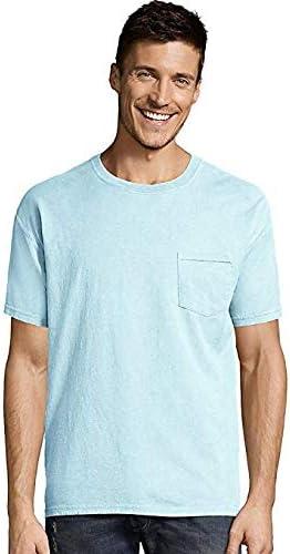 Hanes Mens ComfortWash Garment Dyed Short Sleeve Pocket Tee