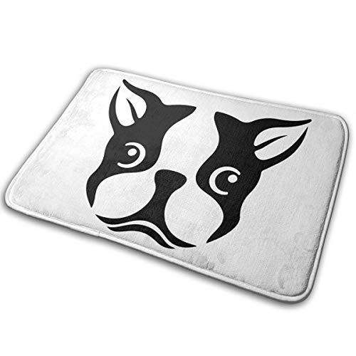 Boston Terriers Head - Felpudo absorbente antideslizante para baño, exterior o interior, felpudo de 40 x 60 cm