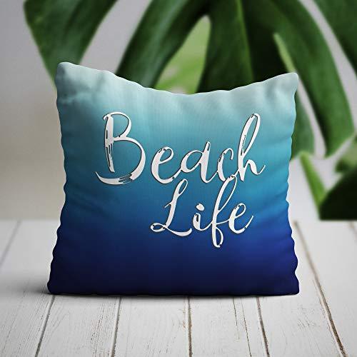Lplpol - Federa decorativa per cuscino, motivo nautico, con ancora, ideale come regalo per la barca, idea regalo per adolescenti, decorazione per la camera dei bambini, cuscini moderni per divano per la casa, divano e divano letto, Tela, Colore #13, 40,5 x 40,5 cm