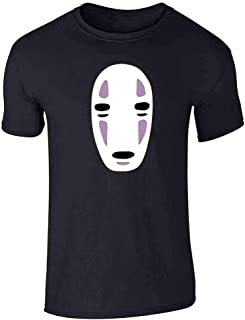 No Face Kaonashi Nerd Apparel Geek Graphic Tee T-Shirt for Men