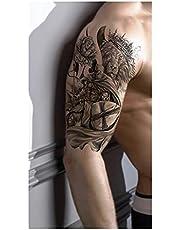 Qqinghan Afrika Lion Tijdelijke Tattoo Indian Tribal Mighty Lion Warrior Waterdichte Flash Tattoo Sticker Zwarte Mannen Vrouwen