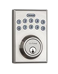 Keyless entry with a motorized driven deadbolt for 1 touch locking, low battery indication, and easy install with just a screwdriver For use on exterior doors where keyed entry and security is needed.Customizable automatic door locking after 10 to 99...