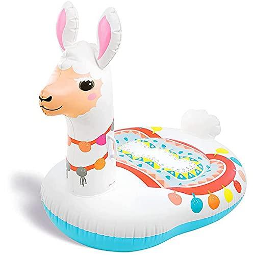 Opblaasbaar Zwembad Speelgoed, Alpaca Opblaasbare Paard Drijvende Rij Oversized Gras Modder Paard Water Opblaasbaar Recliner, Volwassen Zwemmen Opblaasbaar Paard Dierspeelgoed