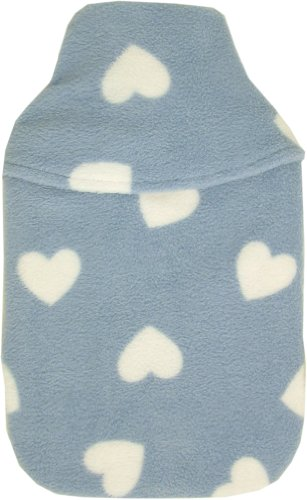 Vagabond 2L Blue Hearts Hot Water Bottle and Cover