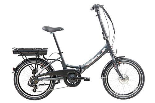 F.lli Schiano E- Star, Bicicletta elettrica Pieghevole Unisex Adulto, Antracite, 20''