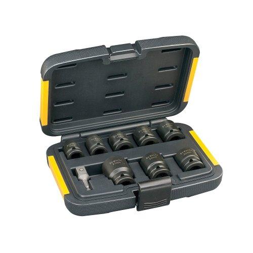 Dewalt Extreme Impact Steckschlüssel-Set für Schlagschrauber DT7507 (9-teilig, inkl. 1/4
