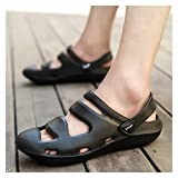 MING-BIN Chaussures Confortables Sandales décontractées Hommes Eau Equitation Chaussures Tirez sur Style Eva Plastics antidérapant perforé Mode (Color : Black, Size : 36 EU)