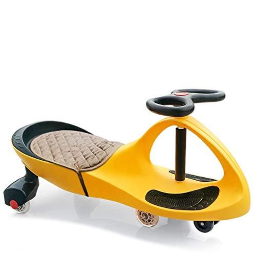 Yuandudu Skateboard Kinder Twisted Car Kunststoff hat Anti-Rutsch-Pedal Anti-Rollover-Sicherheitsrad mit Sitzkissen Geeignet für Indoor-und Outdoor-Walker Slide Car Toy Dreirad (Color : Orange)