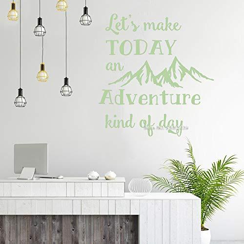 Ajcwhml Giebel Aufkleber Kinderzimmer Home Wanddekoration Lassen Sie Uns Schriftzug Aufkleber 110 x 117 cm Werden