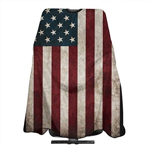 Distressed USA American Flag Salon Hair Cutting Cape Cloth Barber Hairdressing Wrap Haircut Apron Cloth Styling Accessory For Unisex