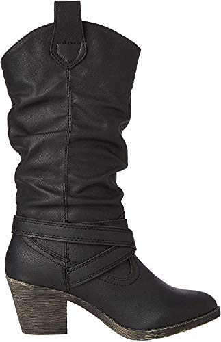 real leather black flat boots