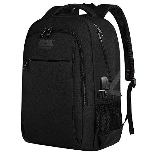 Multifunctional Comfortable Computer Backpack Business Anti Theft Slim Durable Laptops Backpack with USB Charging Port Water Resistant Computer Bag for Women Men Fits 15.6 Inch Laptop