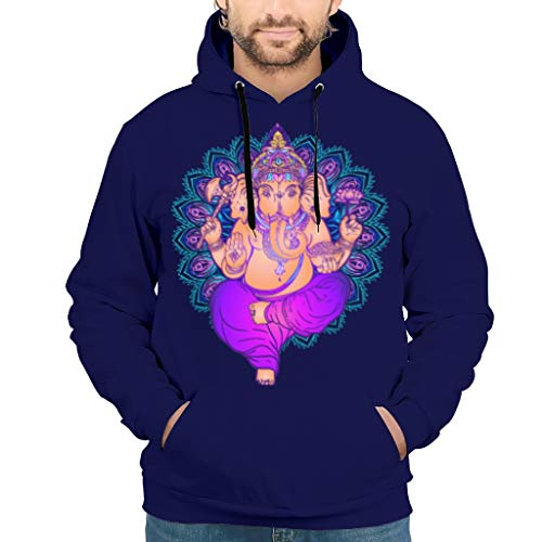 Preisvergleich Produktbild NeiBangM Herren Casual Hoodie Sweatshirt Elephant Longsleeve Langarm Sweatshirt Pullover Rundhals Für Frauen White 3XL