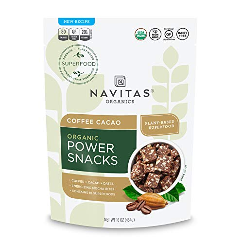 Navitas Organics Superfood Power Snacks, Coffee Cacao, 16 oz. Bag — Organic, Non-GMO, Gluten-Free
