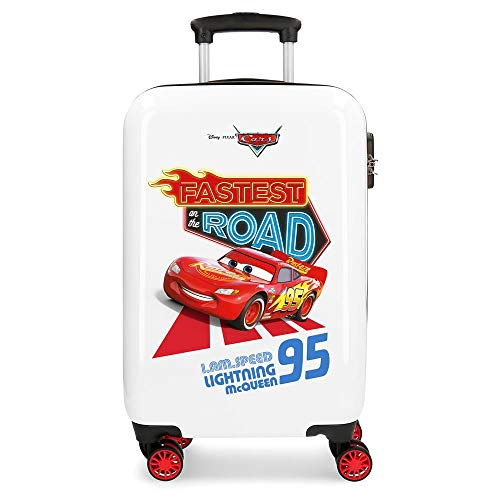 Disney Cars Good Mood Maleta de cabina Multicolor 34x55x20 cms Rígida ABS Cierre combinación 32L 2,5Kgs 4 ruedas dobles Equipaje de Mano