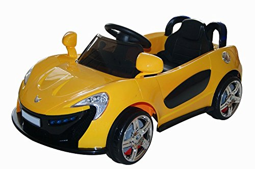 Toker Sportwagen Cabrio Kinder Elektroauto (Gelb)