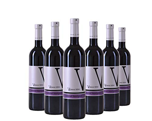 Vipava 1894 vino tinto Cabernet Sauvignon 2017, vino tinto seco cosechado a mano (6 x 0,75 l)