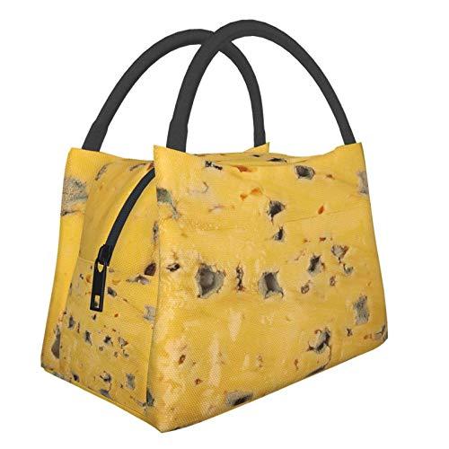 Bolsa Térmica,Bolsa de Almuerzo Térmic,Bolsa Isotérmica para Almuerzo,Novely Cheese Texture Close-Up Food Unique,Bolsa de almuerzo,Bolsa de Picnic Portátil para Trabajo y Colegio