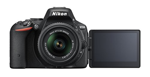 Nikon D5500 DX-Format Digital SLR w/ 18-55mm VR II Kit (Black) (Renewed)