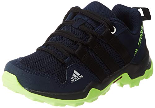 adidas Unisex-Child Terrex AX2R Walking Shoe, Tech Indigo/Core Black/Signal Green, 36 2/3 EU