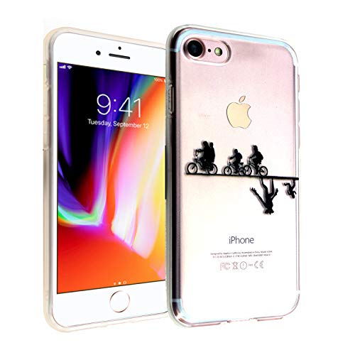 CASEMPIRE iPhone SE (2020), iPhone 7 8 Stranger Bicycle TPU Case Shock Proof Never Fade Slim Fit Cover for iPhone SE 7 8- Upside Down Bicycles