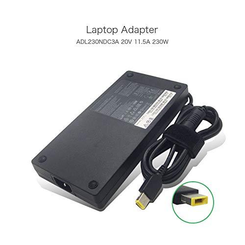 szhyon 20V 11.5A USB Adaptador de CA para computadora portátil ADL230NDC3A Fuente de alimentación compatible con Lenovo THINKPAD P70 MOBILE WORKSTATION THINKPAD P50