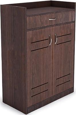 Shilpi Handmade Multipurpose Storage Traditional Look Or Standard Size Indian Premium Teak Board Wooden Cabinet Double Door & Drawer