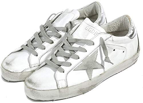 Golden Goose Herren Sneaker Sneaker GGDB Leder Casual Schuhe Low Top Slide, Silber - silber - Größe: 45 EU