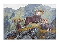大人の子供のための番号キットでペイント _ 羊ラム雌羊子羊縁起の良い動物 _ Diyデジタルキャンバスの油絵のギフト _ 番号キットで家の装飾 _ 40X50Cm _ 【ギフト】木製フレーム