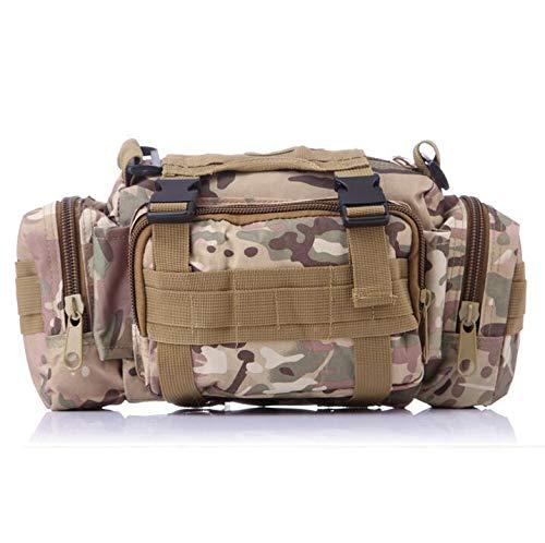 XIOFYA 1 mochila táctica militar al aire libre con cintura Mochilas Molle camping senderismo bolsa 3P bolsa de pecho (color: CP camuflaje)