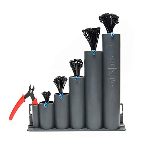 Ready-Zip-Go (tm) Cable Tie Organizer, magnetic base, 250 black zip ties and cutter included
