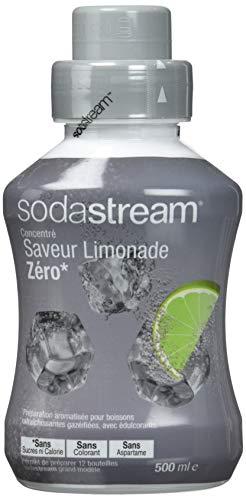 Sodastream Concentré Saveur Limonade Zéro – Sans Sucres ni Calorie, Sans Aspartame et Sans Colorant – 500 ml
