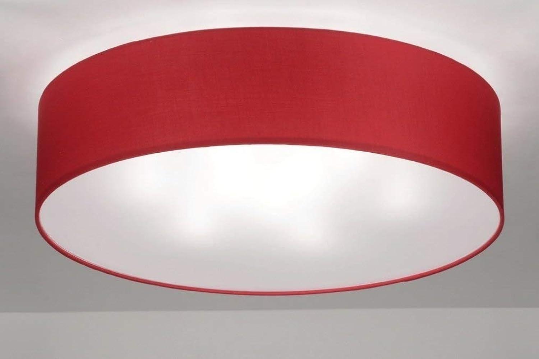 Lumidora Deckenleuchte Modern Zeitgemaess Rot Rund
